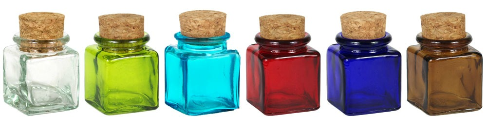 Colorful glass packaging give your products that wow for Colored glass bottles with corks