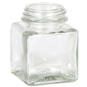 Square Glass Jar 3.4