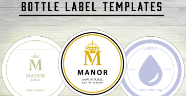 Bottle Label Templates | Free Mock-Up PSDs