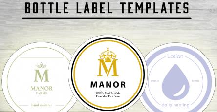 Bottle Label Templates | Free Mock-Up PSDs