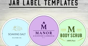 Jar Label Templates — Free Mock-Up PSDs