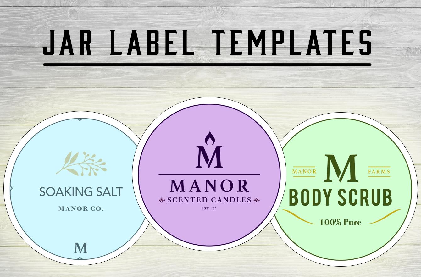 Jar Label Templates — Free Mock-Up PSDs