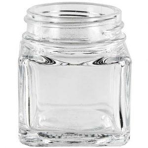 Square Glass Jar 1.5