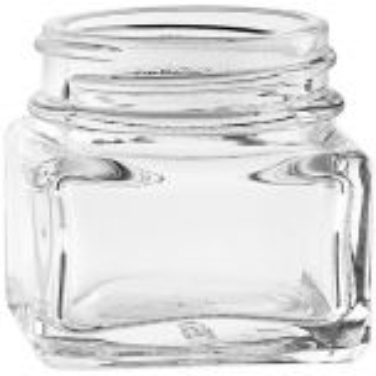 1 oz Square Glass Jar 43mm Thread