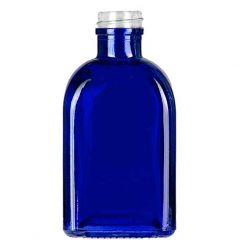 8.5oz roma glass bottle cobalt blue threaded neck - case of 12