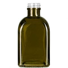 8.5oz roma glass bottle vintage green threaded neck - case of 12