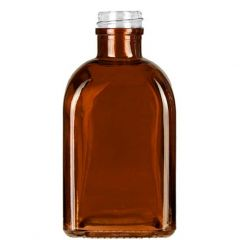 8.5oz roma glass bottle dark amber threaded neck