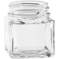 1.5oz square glass jar 43-400 threaded neck