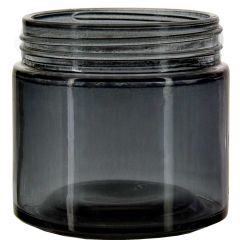 6oz calypso glass jar stormy grey threaded neck