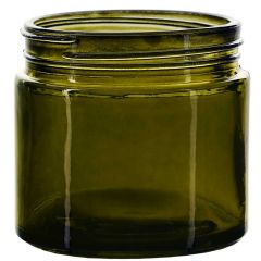 6oz calypso glass jar vintage green threaded neck - case of 12