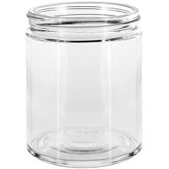 16oz calypso wide mouth glass jar clear threaded neck