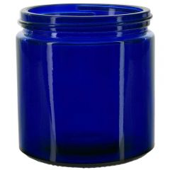 13oz calypso glass jar cobalt blue threaded neck - case of 12