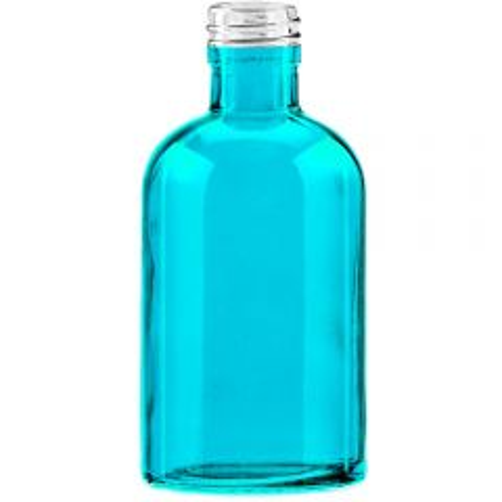 8 oz Apothecary Glass Bottle Aqua 28mm Thread