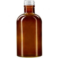 8oz apothecary glass bottle dark amber threaded neck - case of 12