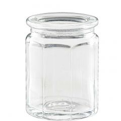 1.2oz octagonal glass jar no cork - case of 24