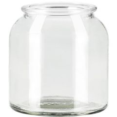 8oz apothecary glass jar no cork - case of 12