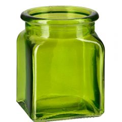 8.5oz square glass jar lime