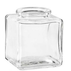 3.4oz square glass jar no cork - case of 24