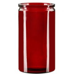 16oz calypso glass jar red - case of 12