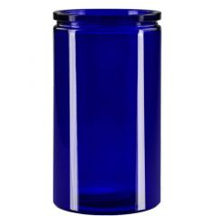 16oz calypso glass jar cobalt blue - case of 12