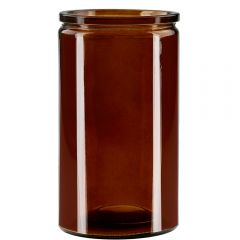 16oz calypso glass jar dark amber