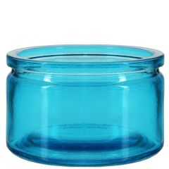 4oz calypso glass jar aqua