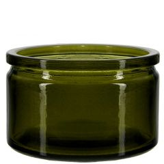 4oz calypso glass jar vintage green - case of 12