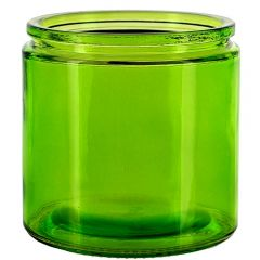 13oz calypso wide mouth 90mm glass jar lime - case of 12