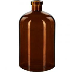 25.4oz apothecary glass bottle dark amber no cork - case of 12