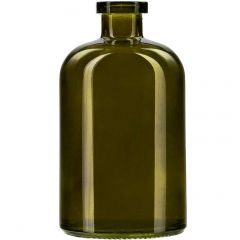 13.5oz apothecary glass bottle vintage green no cork - case of 12
