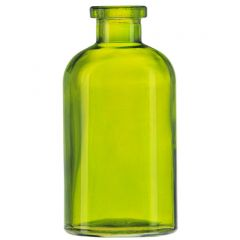 8oz apothecary glass bottle lime no cork - case of 12
