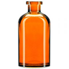 8oz apothecary glass bottle orange no cork - case of 12