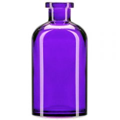 8oz apothecary glass bottle violet no cork - case of 12