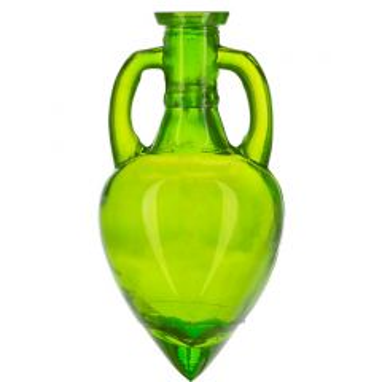 6.1oz amphora glass bottle lime no cork - case of 12