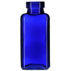 3.4oz quad glass bottle cobalt blue no cork - case of 12
