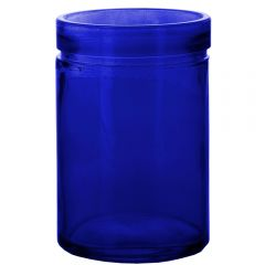26oz verona glass container cobalt blue