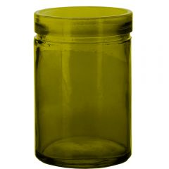 26oz verona glass container vintage green