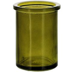 6oz round candle glass container vintage green - case of 12
