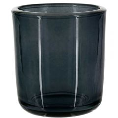 8.5oz heavy glass votive stormy grey