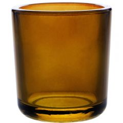 8.5oz heavy glass votive dark amber