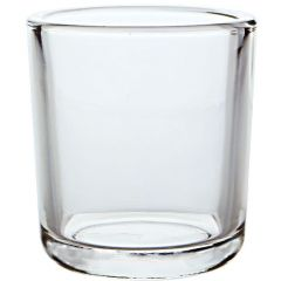 8.5oz heavy glass votive - case of 12