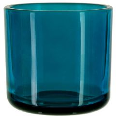 16oz Lexington glass container oxford blue irregular