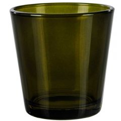 "3"" guam votive candle container vintage green - case of 24"