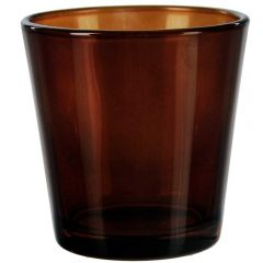 "3"" guam votive candle container dark amber - case of 24"