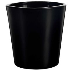 "3"" guam votive candle container black matte"