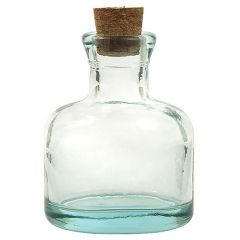 3.5oz orbit recycled glass bottle with cork - case of 24