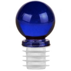 "1 1/4"" ball glass top closure for 3/4"" opening cobalt blue - case of 12"