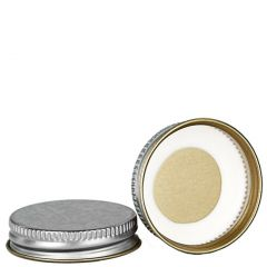 screw cap 43-400 silver lacquer finish with Plastisol