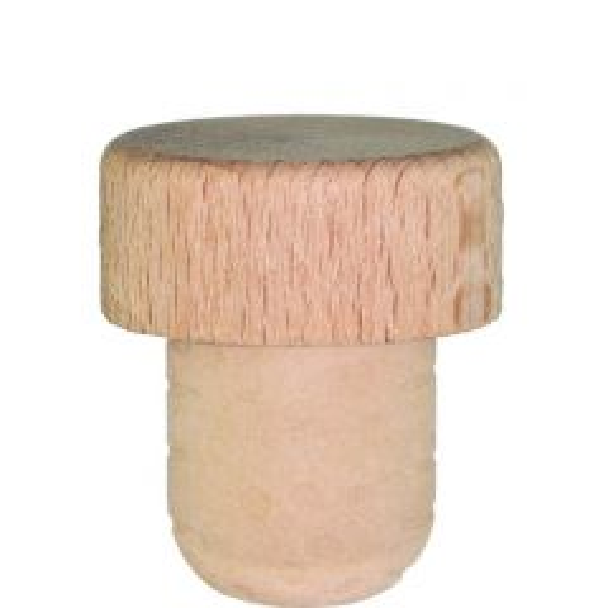 Bar top natural wood 19.5mm synthetic shank