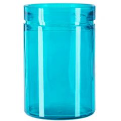 26oz verona glass container aqua - case of 12